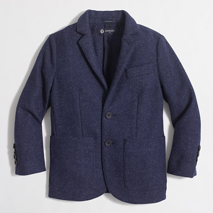 Boys' tweed blazer