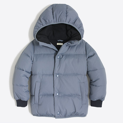 Boys' marshmallow puffer jacket
