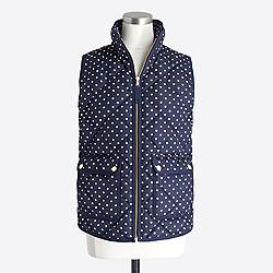 Polka-dot puffer vest