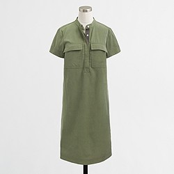 Factory military shirtdress