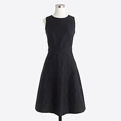 Jacquard eyelet dress