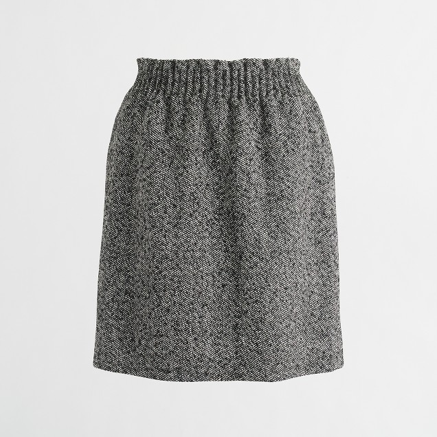 Herringbone sidewalk skirt
