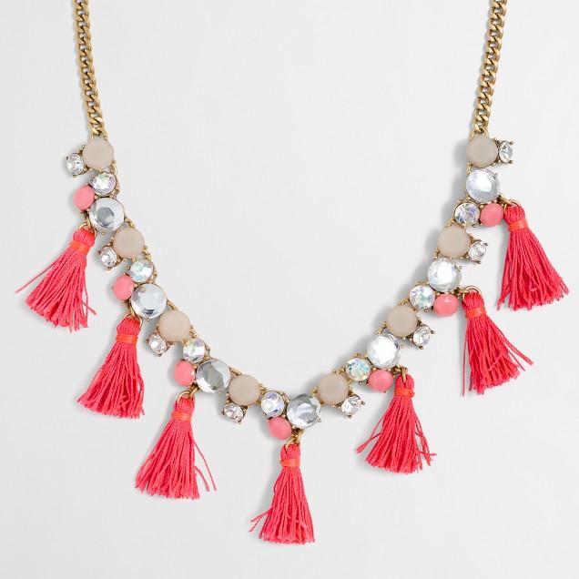 Thread tassel necklace