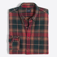 Tall plaid rugged elbow-patch shirt