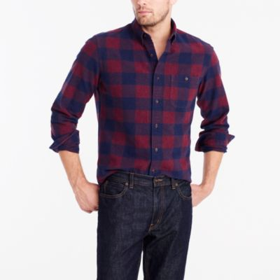 Tall plaid rugged elbow-patch shirt factorymen tall c