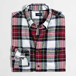 Plaid rugged elbow-patch shirt