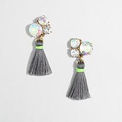 Factory cluster thread tassel earrings
