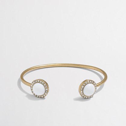 Gemstone cuff bracelet
