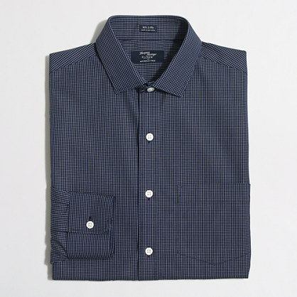 Wrinkle-free Voyager dress shirt in open grid
