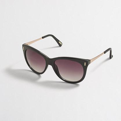 Retro mixed-media sunglasses