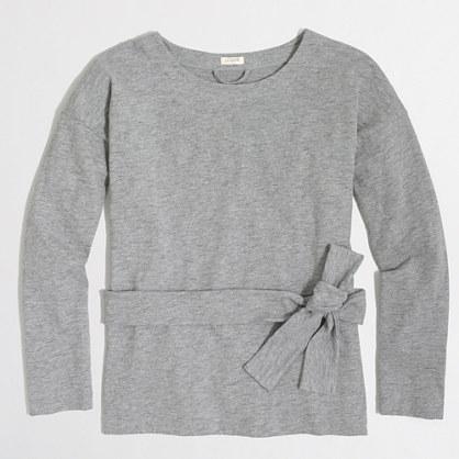 Lightweight tie-waist sweatshirt
