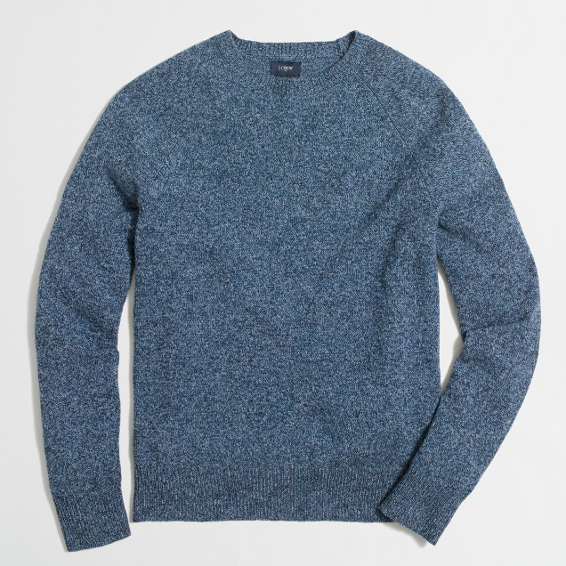 Marled lambswool crewneck sweater