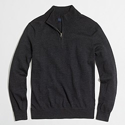 Slim merino wool half-zip sweater