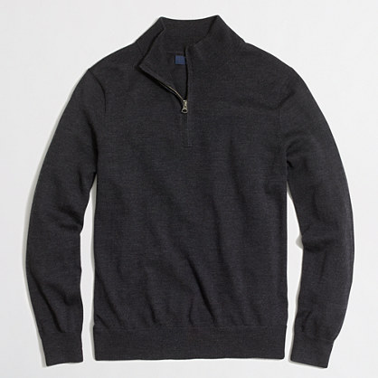 Tall merino wool half-zip sweater