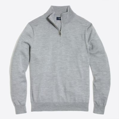 Slim-fit merino wool half-zip sweater