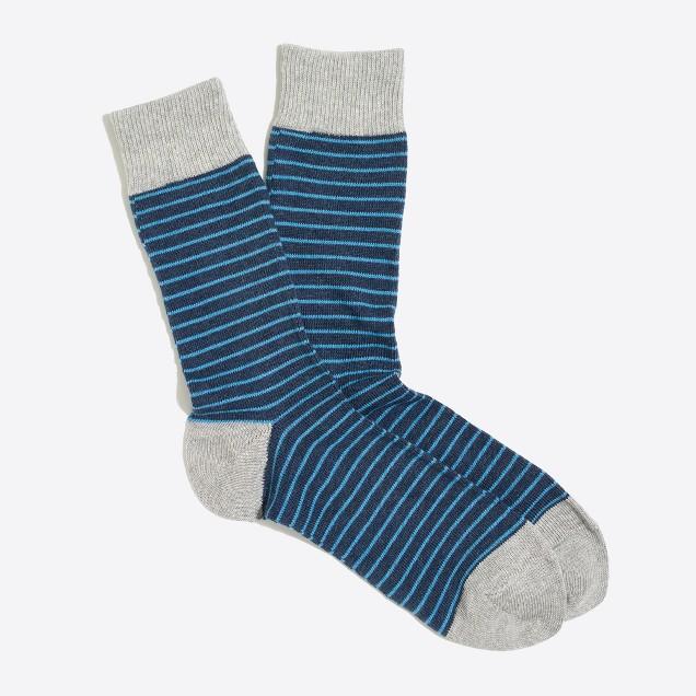 Microstripe socks