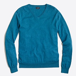 Slim harbor cotton V-neck sweater
