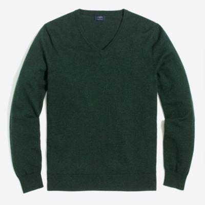 Harbor cotton V-neck sweater   sale