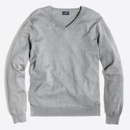 Tall harbor cotton V-neck sweater