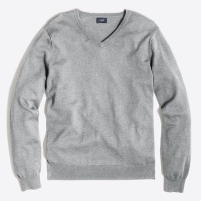 Harbor cotton V-neck sweater factorymen sweaters c