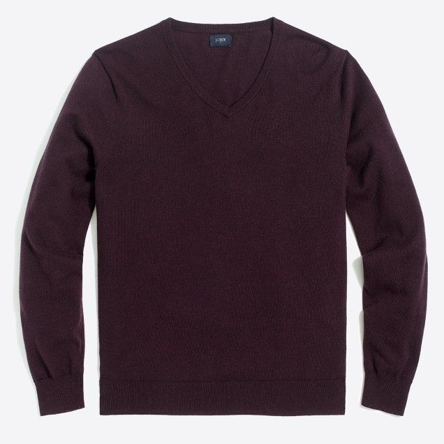 Harbor cotton V-neck sweater