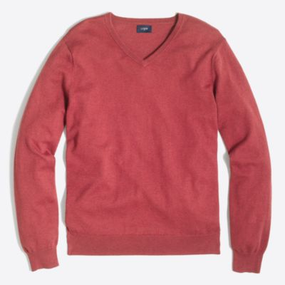 Harbor cotton V-neck sweater factorymen new arrivals c