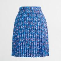 Pleated flared mini skirt