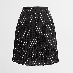Factory pleated flared mini skirt
