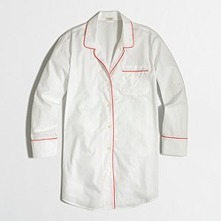 Factory nightshirt in end-on-end cotton