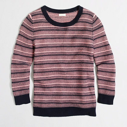 Textured-stripe sweater