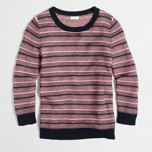Textured-stripe sweater