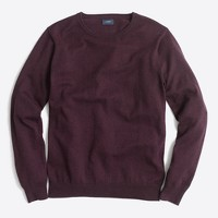 Slim-fit harbor cotton crewneck sweater