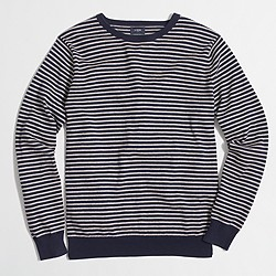 Striped harbor cotton crewneck sweater