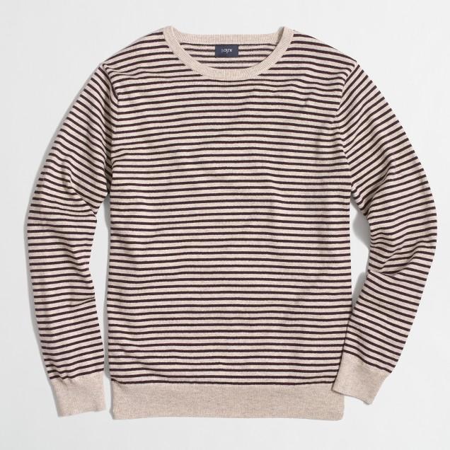 Striped harbor cotton crewneck sweater