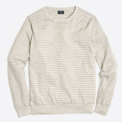 Slim-fit harbor cotton stripe crewneck sweater
