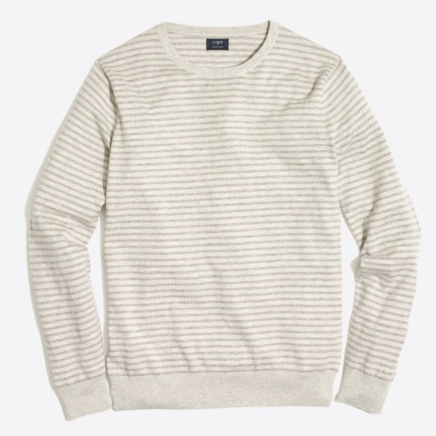 Harbor cotton striped crewneck sweater