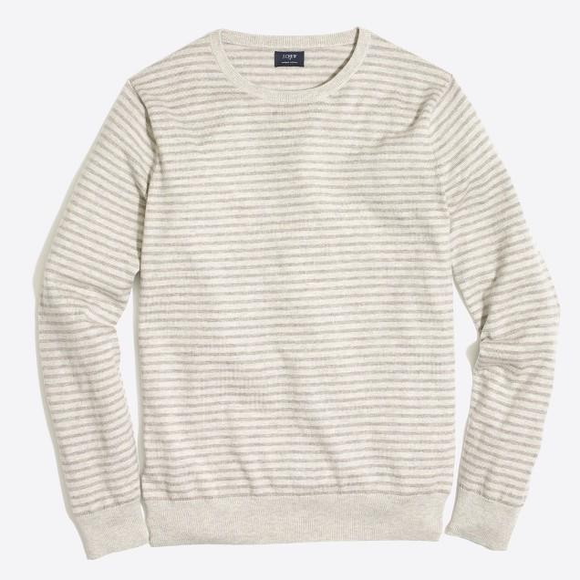 Slim-fit harbor cotton stripe crewneck sweater