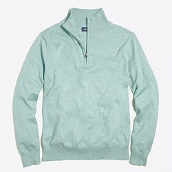 Harbor cotton half-zip sweater