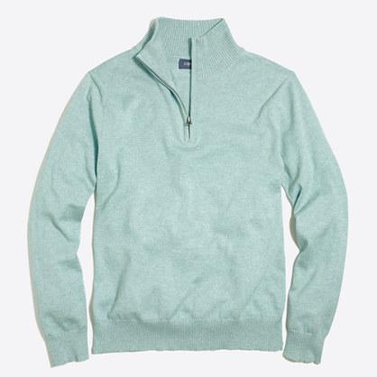 Tall harbor cotton half-zip sweater