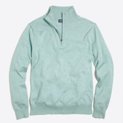 Harbor cotton half-zip sweater factorymen new arrivals c
