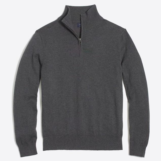 Harbor cotton half-zip sweater