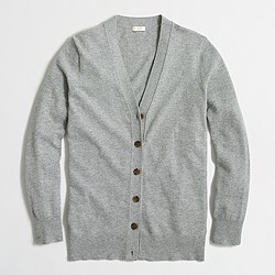 Factory cotton-wool V-neck cardigan sweater