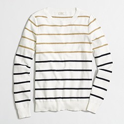 Factory Lurex® striped sweater