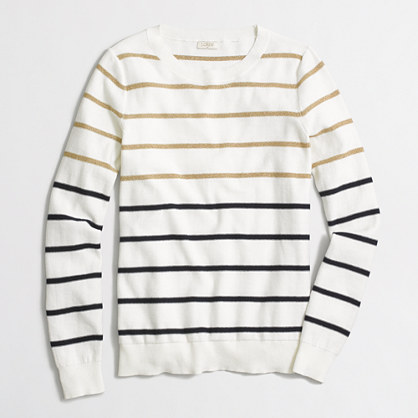 Lurex® striped Teddie sweater