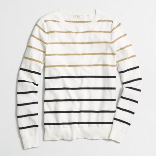 Lurex® striped Teddie sweater