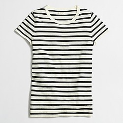Factory striped short-sleeve sweater