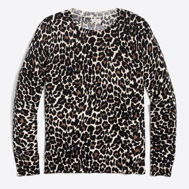 Leopard Teddie sweater