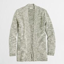 Marled yoga cardigan sweater