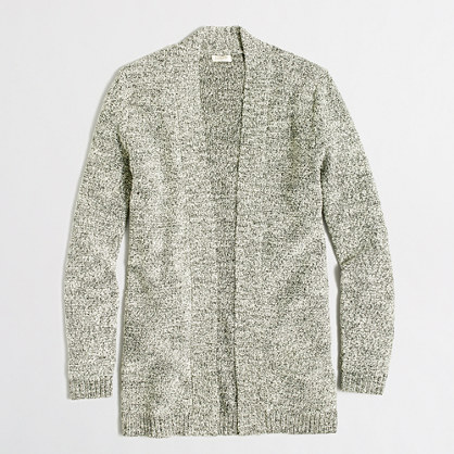 Marled yoga cardigan sweater