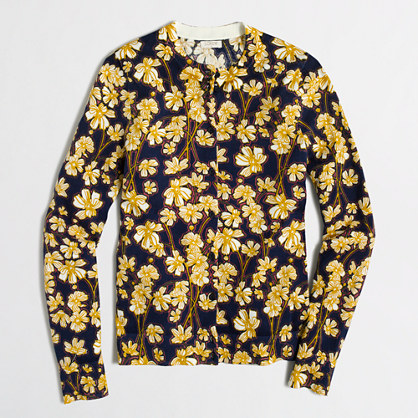 Floral Caryn cardigan sweater